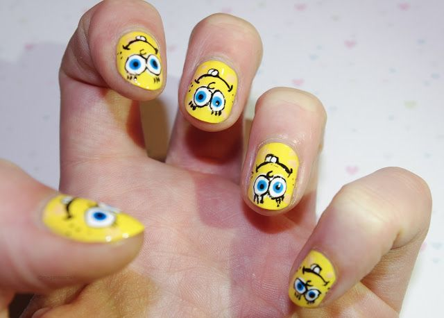 Best Nails Images On Pinterest Amber Beauty And Cartoon - Spongebob nail decals
