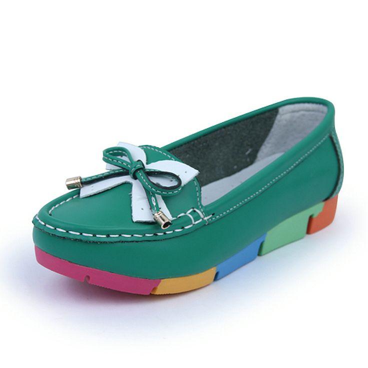 Only $15.29 , De La Chance Women Flat Shoes New Autumn Slip On Student Casual Shoes Solid PU Ladies Loafers Shoes Soft Nurse Shoes White Blue