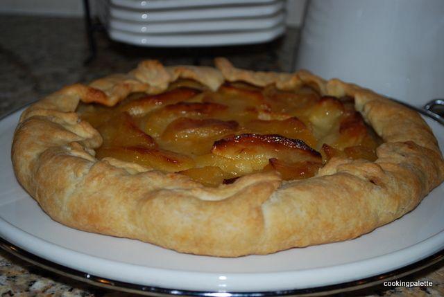 Французский рустикальный яблочный пирог Tarte aux Pommes (14)