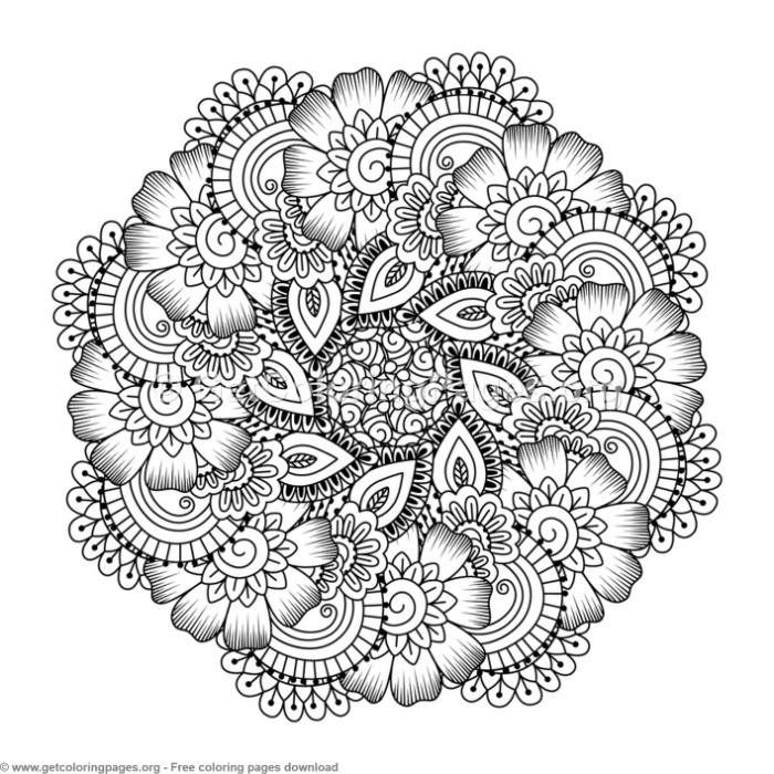 5 Zentangle Round Mandala Coloring Pages Getcoloringpages Org Free Instant Download Colorin Designs Coloring Books Mandala Coloring Pages Mandala Coloring