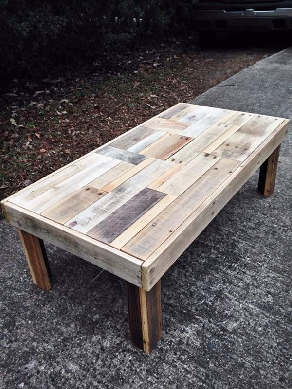 12 DIY Antique Wood Pallet Coffee Table Ideas | DIY and Crafts