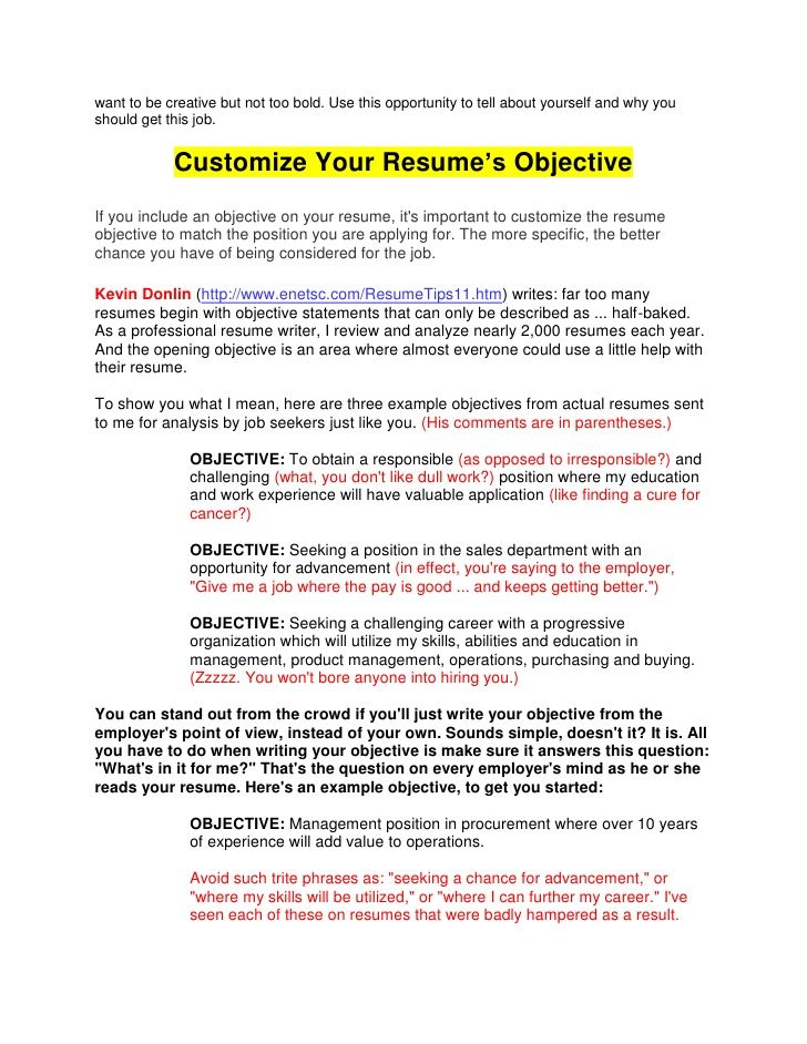 The 25+ best Career objectives for resume ideas on Pinterest - example of career objective