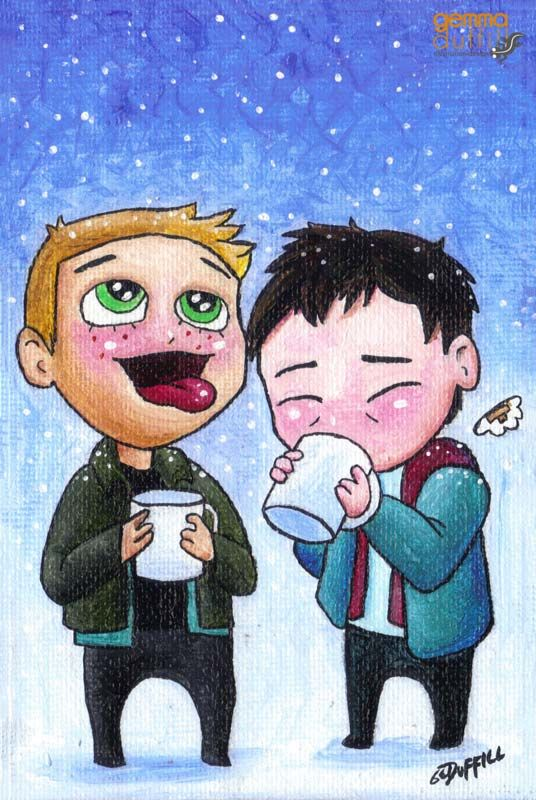 Chibi Cas and Dean by GemmaDuffill.deviantart.com on @deviantART