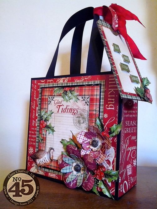 Learn how to make your very own Twelve Days of Christmas bag with a downloadable tutorial from Clare! #graphic45 #tutorial #scorpal