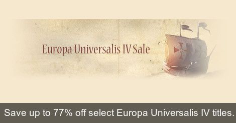 [WinGameStore] Europa Universalis IV Deals | Europa Universalis IV Conquest Collection ($11.99/80%) Europa Universalis IV DLC Collection ($12.99/80%) EU IV: Mare Nostrum ($6.99/53%) EU IV: Rights of Man ($12.72/36%) EU IV: The Cossacks ($9.53/52%) EU IV: Third Rome ($8.94/11%)