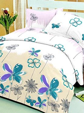 This bedsheet set has a pretty floral pattern that is young and artistic. The flower prints are a mix of styles resembling fine sketches and paints. The 100% cotton fabric offers optimum comfort and luxury. Its premium quality ensures that the colours will remain vibrant after multiple washes. You will feel cared for and comforted every time you slip under the sheets. The look, feel, and quality makes this set a complete package. Info