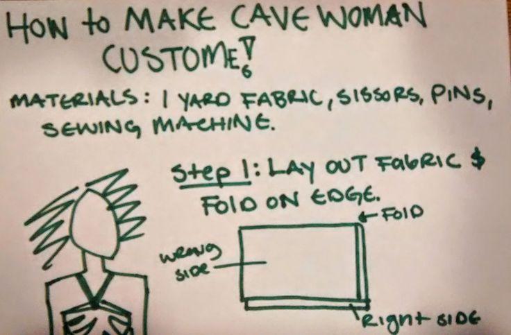 how to make a caveman costume