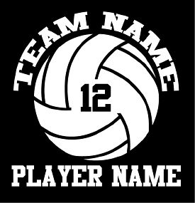 Love This : Custom Volleyball Decal - Team Name/Number