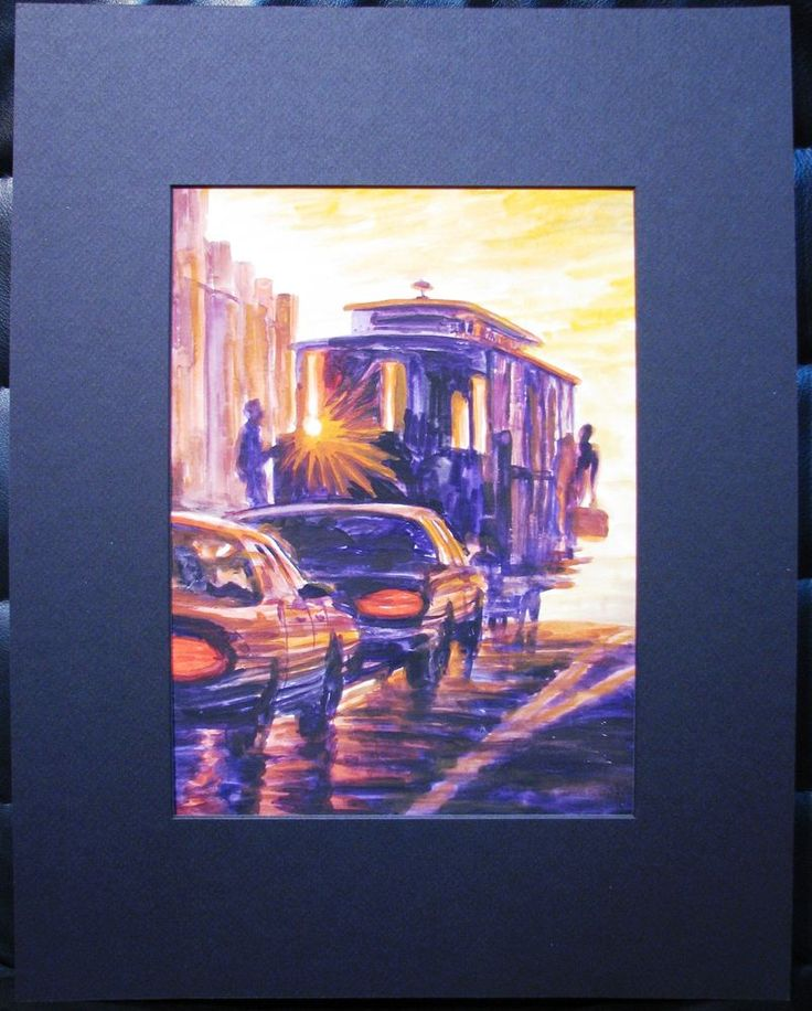 Basia & Yuriy original watercolour titled  Street Car .