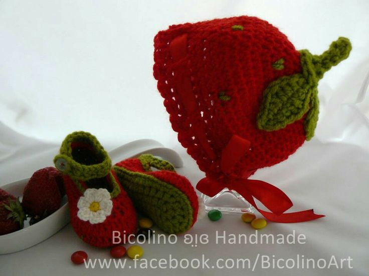 Strawberry crochet outfit