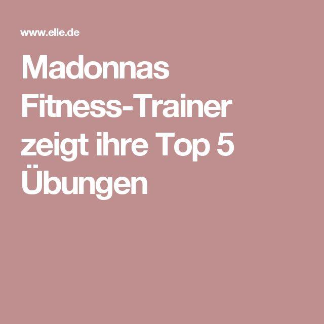 Madonnas Fitness-Trainer zeigt ihre Top 5 Übungen