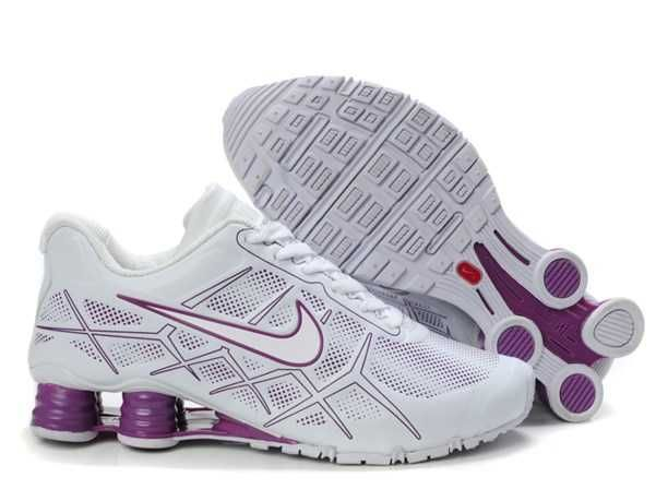 trainers nike air shox turbo 12 womens leather white purple