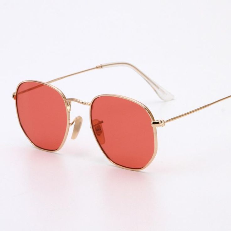 DAVE Retro Square Aviator Sunglasses Women Gradient Lens SunGlasses For Men Gold Metal Frame Clear Lens Eyewear Female Shades
