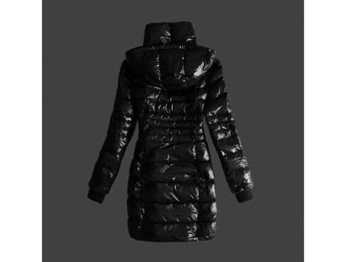 sale Moncler neuen Damen lange Mantel Marcy Na Schwarz Jackets