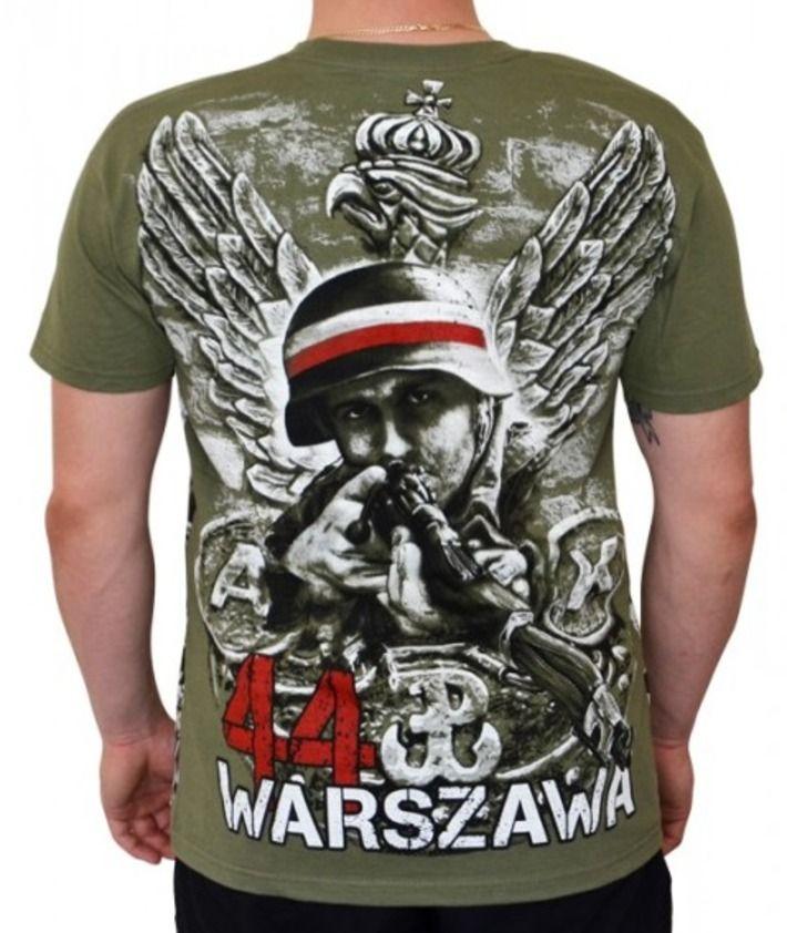 T-shirt patriotyczny 'Oddali swe życie!' HD - tył ---> Streetwear shop: odzież uliczna, kibicowska i patriotyczna / Przepnij Pina!