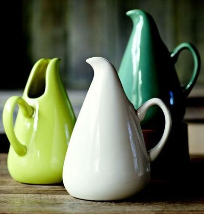 Iconic pitchers designed by American industrial designer Russel Wright (1904-1976). via I Can Totally Make That