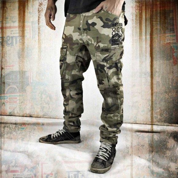 Yakuza Industrial Cargo Pants CPB 8041 camouflage pánske nohavice