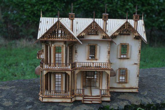 Das gotische Haus Dolls House von FleursGifts auf Etsy