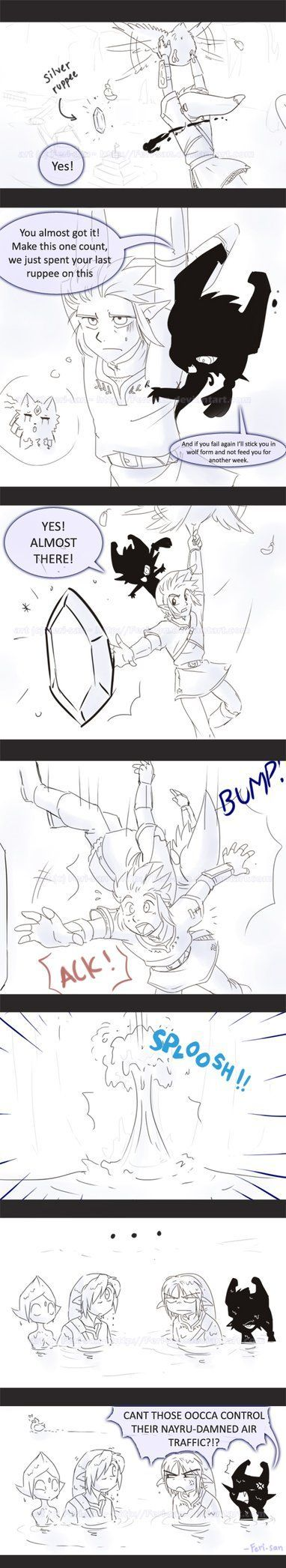 LoZ Air Traffic comic by *Ferisan For me awesome