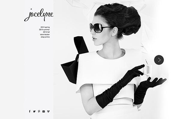 SALE web design concept designer boutique by MadameLevasseur