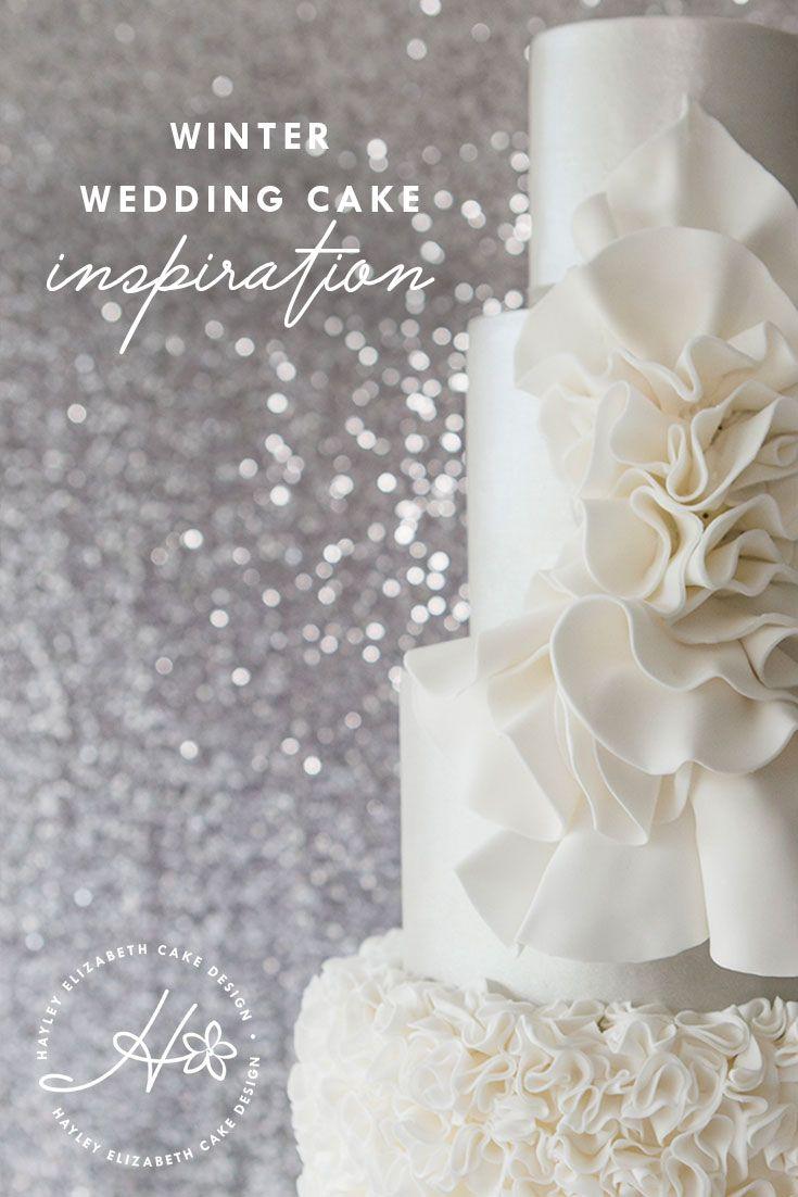 Winter Wedding Cake Inspiration In 2020 3 Teir Wedding Cake