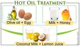 Hot oil treatment to straighten hair