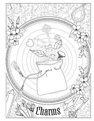 Printable Book Of Shadows Coloring Pages Free