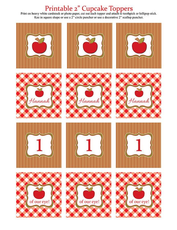 Apple Birthday Party Printables Package Fall Harvest от Honeyprint