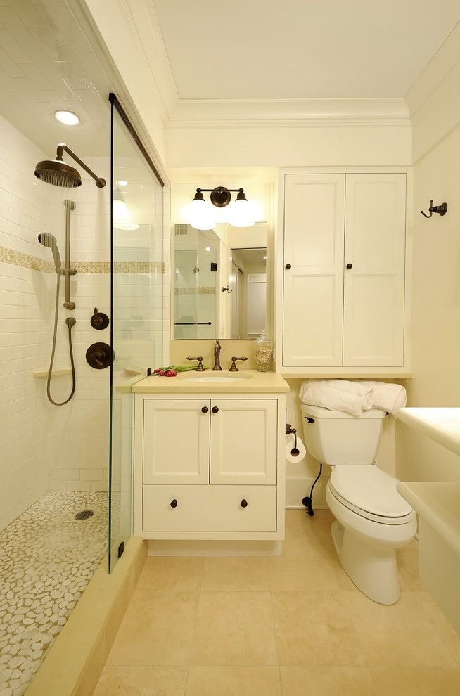 small bathroom lots of storage - Google Search | Bathroom ... on Small Space Small Bathroom Ideas With Bath And Shower id=21981