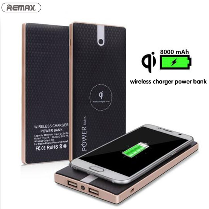 Qi Wireless Charger Power Bank 8000mAh 2 in 1 Fast Charging for iPhone 6 /6s Plus for Samsung Galaxy S5/S6/S7 Edge Note5  Click visit for check price #mobilephoneaccessories