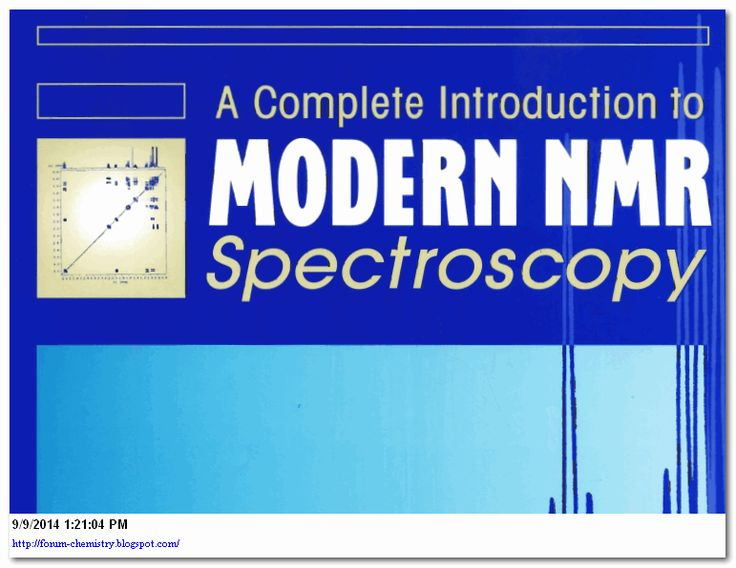 A Complete Introduction to NMR Spectroscopy is written by Roger S. Macomber and published by John Wiley and Sons Inc. Now a days Nuclear Magnetic Resonance (NMR) Spectroscopy is widely used in worldwide forstructure elucidation of compounds/molecules and this book is very useful to understand the basics of modern Nuclear Magnetic Resonance(NMR) Spectroscopy