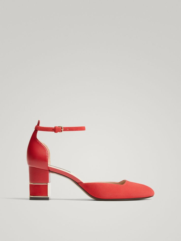 Fall Winter 2017 Women´s RED LEATHER HIGH HEEL COURT SHOES WITH ANKLE STRAPS at Massimo Dutti for 98.5. Effortless elegance!
