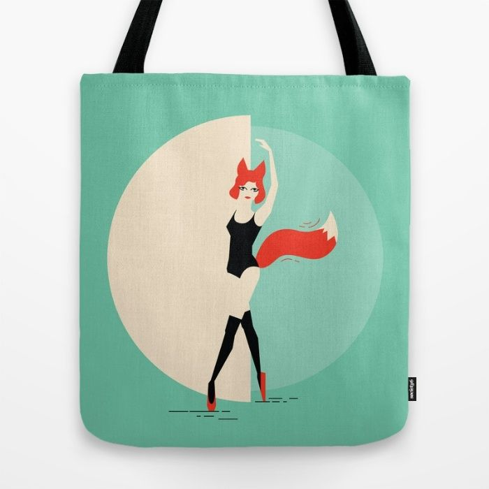 Fox Ballerina Tote Bag