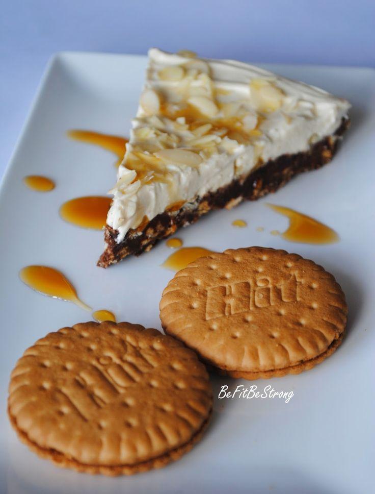Just Be Fit Be Strong!: Szybka tarta na spodzie z ciastek HIT z kremem śmietankowo-kajmakowym bez pieczenia