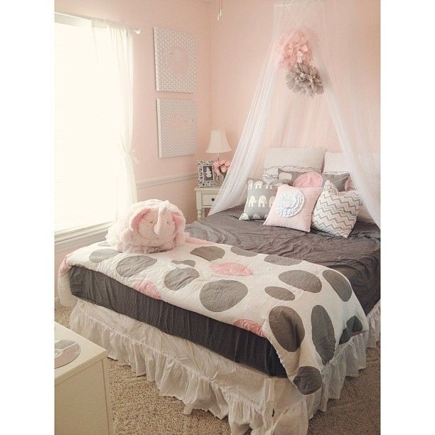 gray and pink twin girl bedroom ideas Victoria Classics Twin Parade Comforter Set - pink and