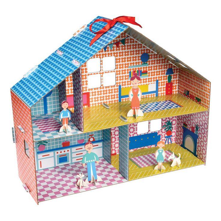 kit pour construire sa maison de poup e multicolore let 39 s play pinterest construire sa. Black Bedroom Furniture Sets. Home Design Ideas