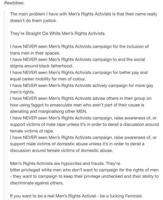 Wow, an equality movement that's purpose is to derail another equality movement and go against the VERY. THING. They say they are fighting for.