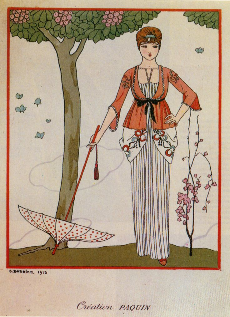 1913 - George Barbier design for Paquin