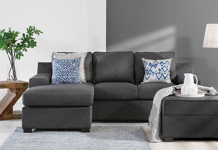 Marshall Fabric 3 Seater Sofa With Chaise Super Amart