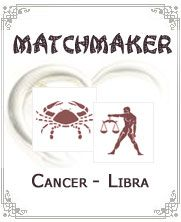Cancer woman and Libra man:-When Cancer woman and Libra man fall in love with each other they form interesting pair of water and air. Cancer woman is emotional and guiding for Libra man while he is charming and intelligent person, together they make fine match for each other. They will have to work together to bring peace and happiness in their relationship...