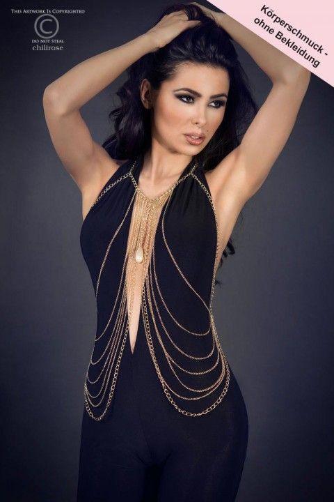Wetten, dieses #Accessoire hat außer Dir niemand auf der nächsten Party dabei?! Sexy #Körperkette, die perfekt zum kleinen Schwarzen oder sexy Jumpsuit passt! https://www.burlesque-dessous.de/burlesque/accessoires/schmuck/koerperschmuck-kette-gold
