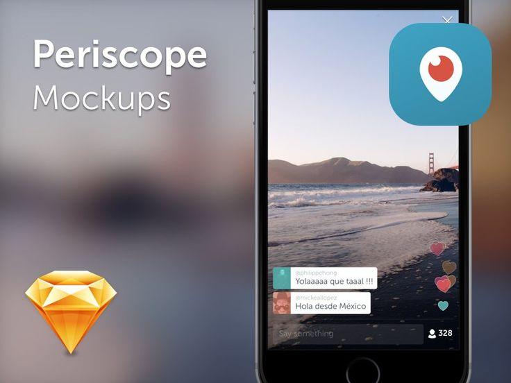 Free Periscope Mockups