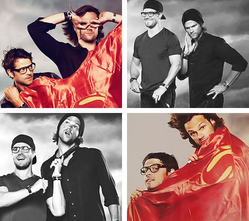 Misha Collins, Jared Padalecki and Stephen Amell, some of my favorite boys :) THAT LAST PIC HAHA!