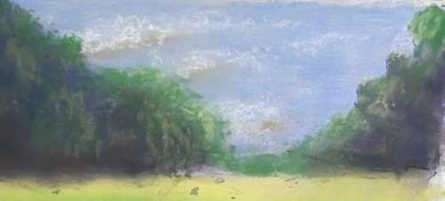 How to Draw Sheep in Pasture in Pastel