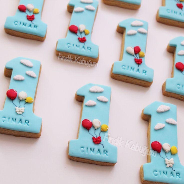 1 Yaş Kurabiyesi / Çocuk Kurabiyesi  1 st Birthday Cookie / Kids Cookie