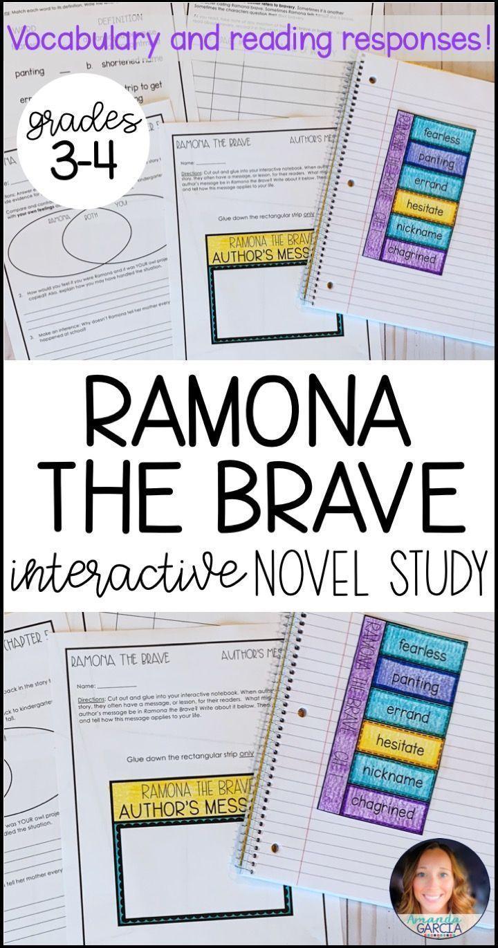 Ramona The Brave In 2020 Third Grade Reading Activities Book Study Common Core Reading [ 1371 x 720 Pixel ]