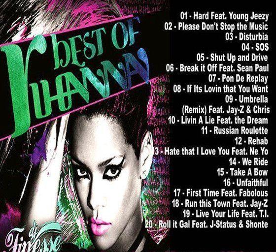 Best Of Rihanna Greatest Hits Mix Mixtape Compilation CD