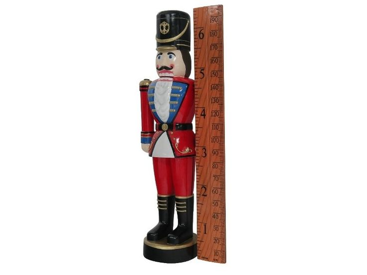 N406 - Christmas Nut Cracker Solider Toy & How Tall Are You Ruler - 3 - N406 - Christmas Nut Cracker Solider Toy & How Tall Are You Ruler - 3.jpg