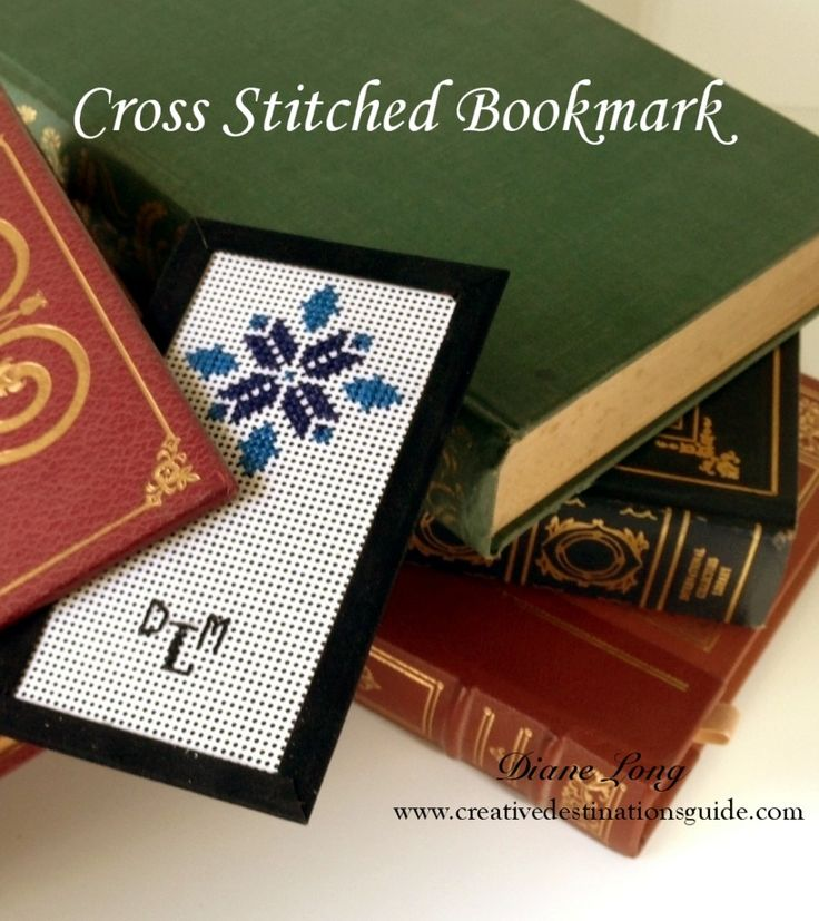Easy cross stitched bookmark, Makes a great gift for a book lover or to add with a gift card. For more ideas and inspiration visit Creative Destinations Guide