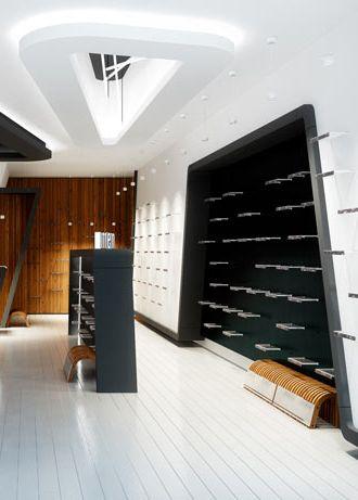 Shoe store design VAN HORN POLAND - archi group. Sklep z obuwiem VAN HORN.